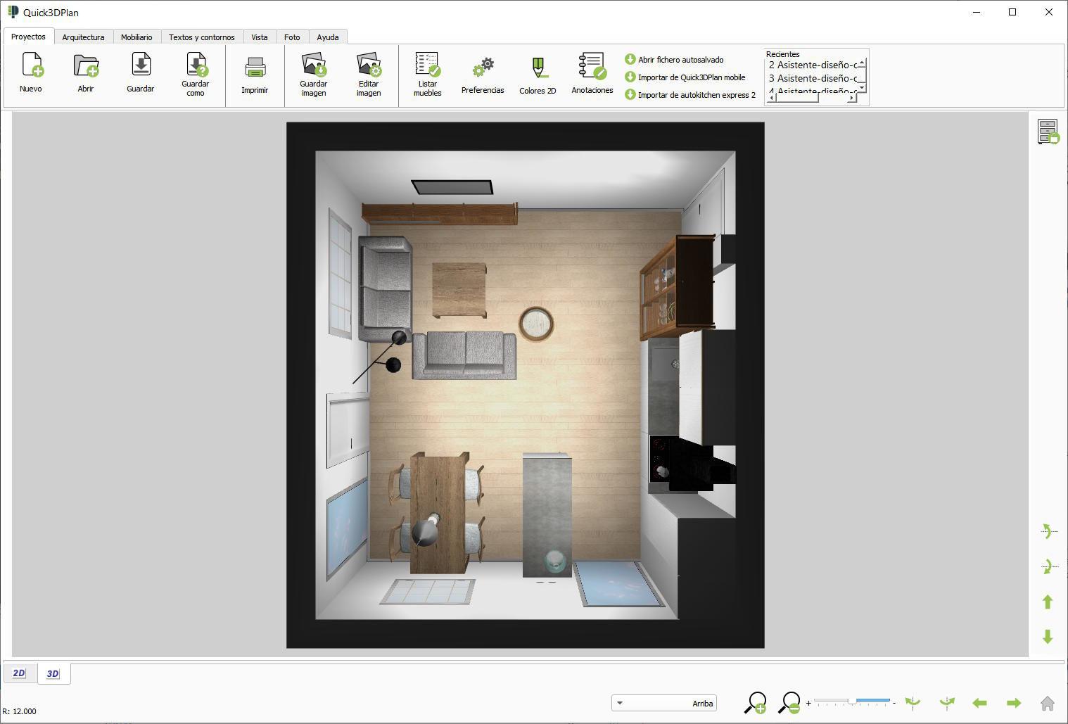 Quick3dplan caracter sticas de quick3dplan ds para for Programas para disenar cocinas en 3d