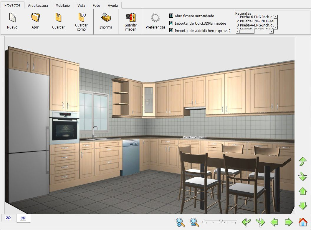 Quick3dplan caracter sticas de quick3dplan express para for Programa para planificar cocinas