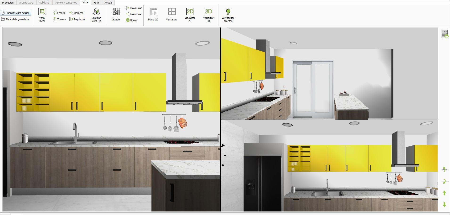 Quick3dplan caracter sticas de quick3dplan 10 para windows programa de dise o de cocinas y - Programa diseno armarios ...